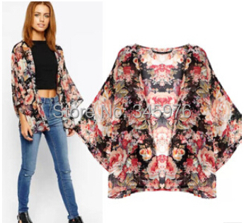2015 New arrival Brand ZA women elegant floral print chiffon ...