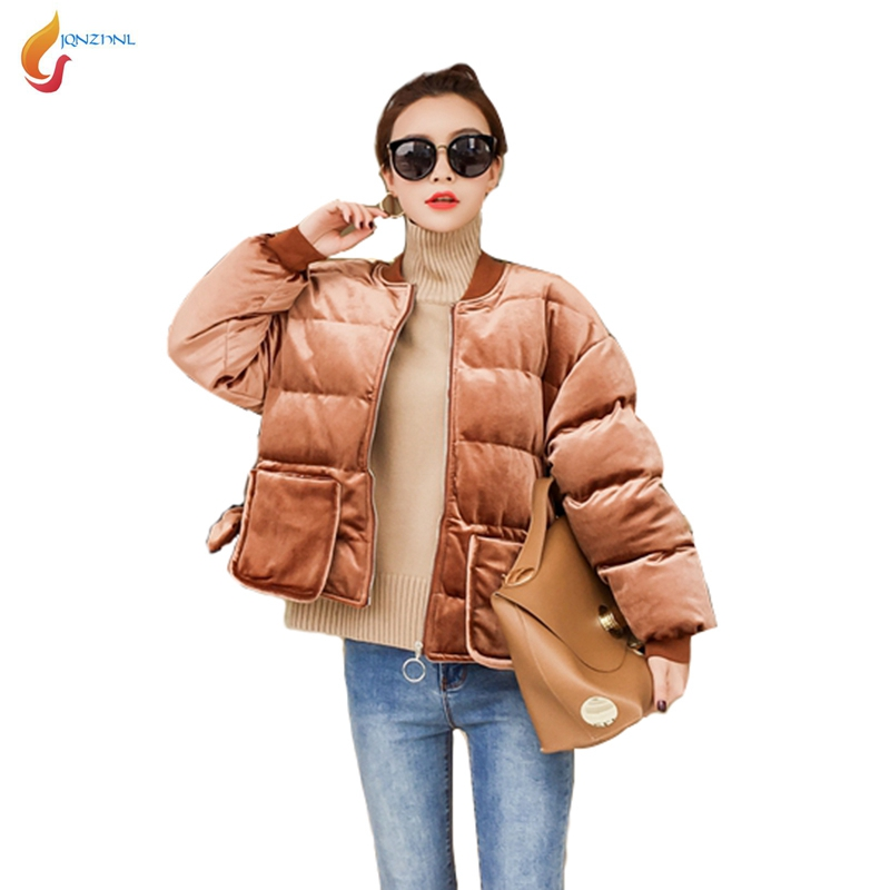 JQNZHNL 2017 New Winter Parkas Women Casual Thicken Down Cotton Jacket Coats Fashion Solid Color Loose Cotton Coat Outerwear C24 2017 fashion boy winter down jackets children coats warm baby cotton parkas kids outerwears for