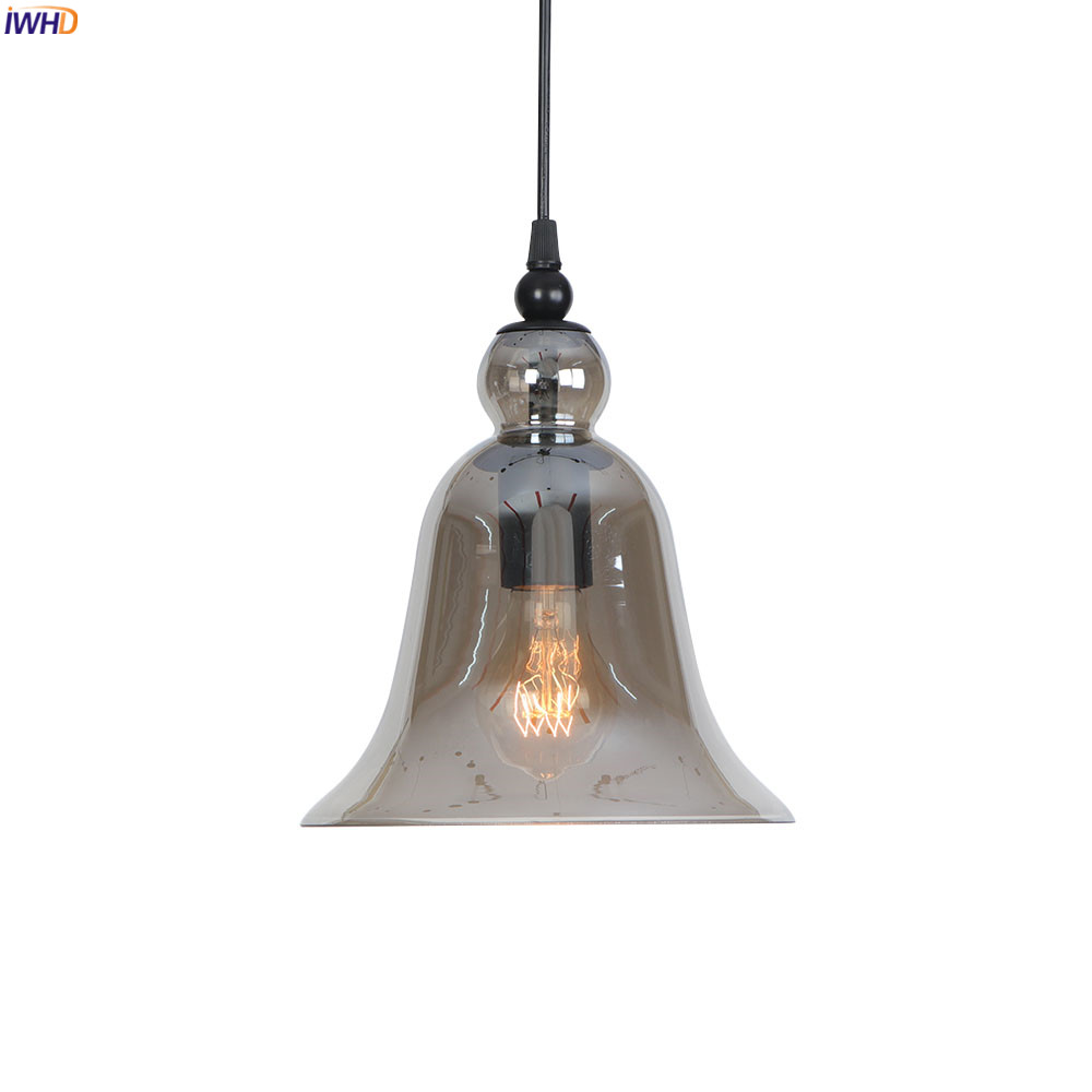 IWHD Smoke Glass LED Pendant Light Fixtures Dinning Living Room Loft Industrial Lamp Vintage Hanging Lights Lampara ColganteIWHD Smoke Glass LED Pendant Light Fixtures Dinning Living Room Loft Industrial Lamp Vintage Hanging Lights Lampara Colgante