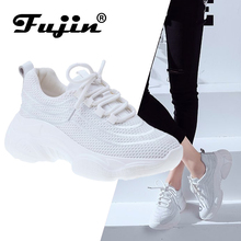 Fujin Brand Women Sneakers 2019 New Fashion Casual Shoes Popular for Girls Flats Thick Bottom Lace Up Spring and Summer