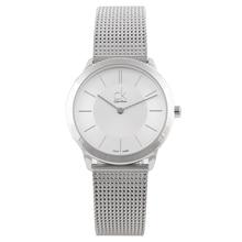 лучшая цена CalvinKlein MINIMAL Series Woven Quartz Ladies Watch K3M22126