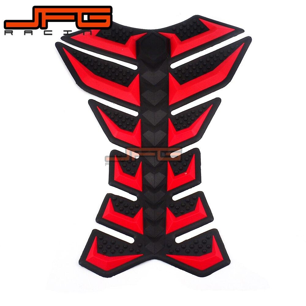Universal Rubber Motorcycle Fuel Tank Cap Sticker Fish Bone Paste For HONDA CB400 CBR600RR CBR1000RR CBR954RR CB1100XX NC750