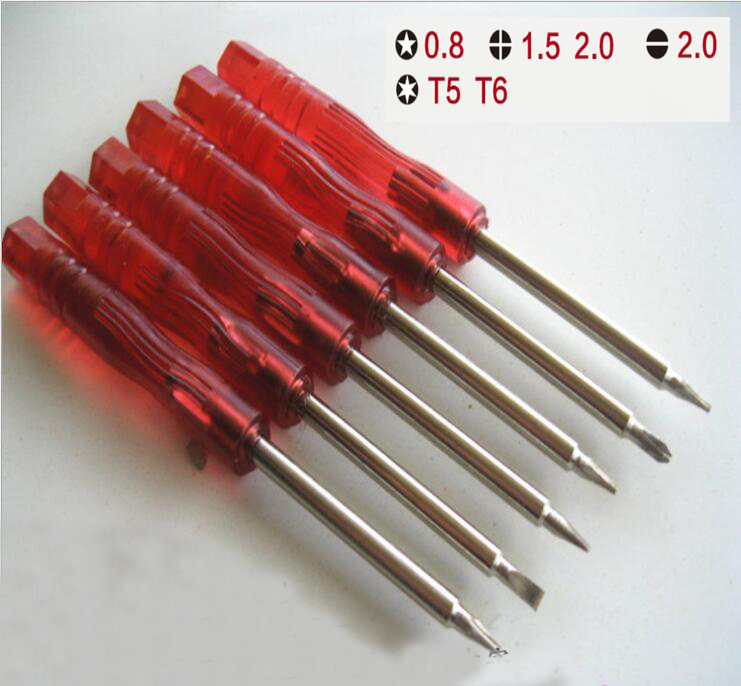 NEW 6 In 1 Screwdriver And Cross Wing Screwdriver Repair Tool For Nintendo NDS DS Lite NDSL For Wii Advance Carts Approx