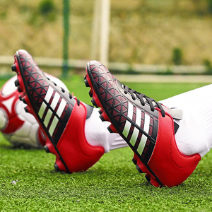 Image 3 - Men Football Soccer Boots Athletic Soccer Shoes 2018 New Leather Big Size High Top Soccer Cleats Training Football Sneaker Man