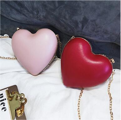 2018 новые модные милые сердцу Форма цепи мешок мини Crossbody сумки для Для женщин Высокое качество искусственная кожа плечо вечерняя сумочка; ...