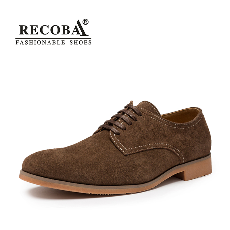 цены Mens casual shoes luxury brand brown suede genuine leather lace up oxfords flat shoes mens casual dress shoes zapatos hombre