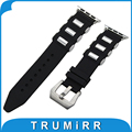 22mm 24mm pulseira de borracha de silicone escova tang buckle strap para 38mm 42mm iwatch apple watch correia de pulso pulseira preta