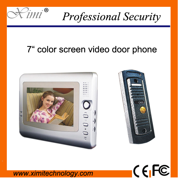 7 inch color screen video door phone video door bell for villa apartment V7C-M