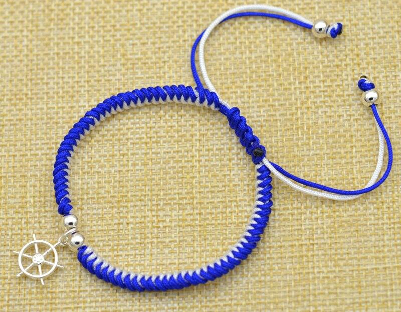 Adjustable Bracelets Gift Bangles Men Jewelry Couple 925 Sterling Silver Sailing Vintage Bracelete 2019