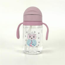 все цены на 400ML Kids Baby Water Bottle Free Children's Cup Baby Portable Feeding Bottle With Straw Handles Leak Proof Durable Water Cup онлайн