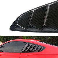 lsrtw2017 car window rear triangle styling for ford mustang 2015 2016 2017 2018 2019