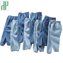Kids pants toddler girl boys trousers Cotton Childrens jeans Trousers Denim Casual Pants Embroidery Car children clothes