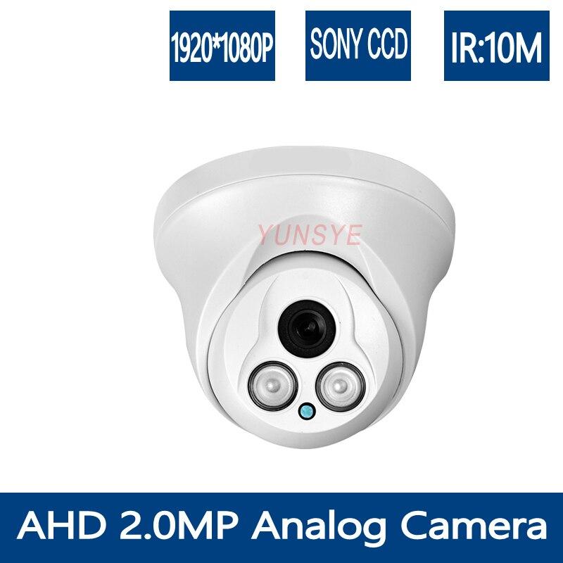 YUNSYE HD 1920*1080 AHD Camera Dome Surveillance Camera IR CUT Filter 1080P Security Camera 2.0MP AHD Camera Free shipping 4 in 1 ir high speed dome camera ahd tvi cvi cvbs 1080p output ir night vision 150m ptz dome camera with wiper