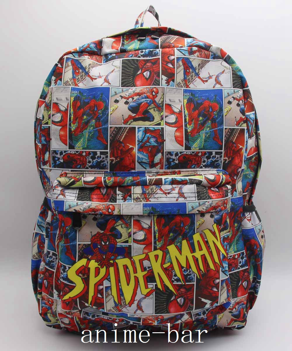 New Marvel Superhero Spider-Man Laptop Backpack Bags Anime Color Printing Shoulder School Bag Bookbag Unisex Cartoon Bags