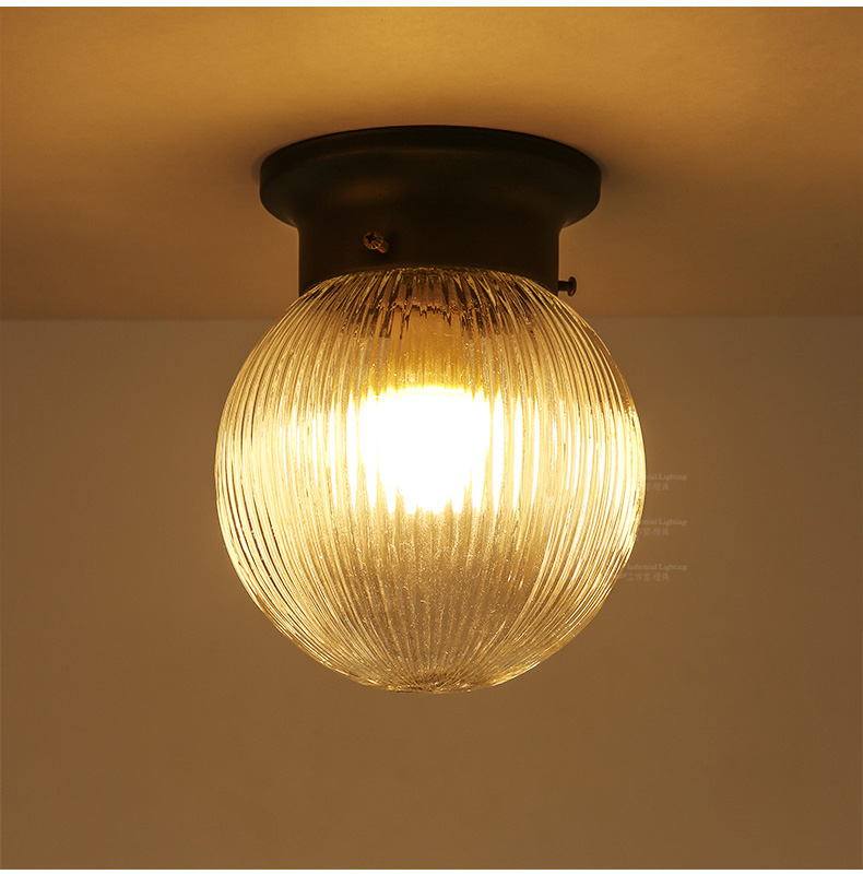 Country Style Glass Ball Wall Lamp Contracted 1 Lamp Led Wall Light Porch Corridor Simple Led Lamp Wrought Iron Wall Lights nordic style retro light creative 1 lamp holder corridor bedside deco sconce wall lights contracted wrought iron wall lamps