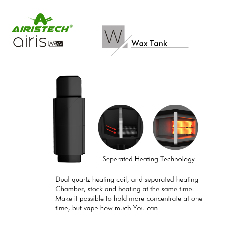 US $21 7 30% OFF|10pcs Original Airistech Airis MW cartridge W Wax Tank  Connection Pods Heating Chamber heating coil M Thick Oil Tank 0 8ml tank-in