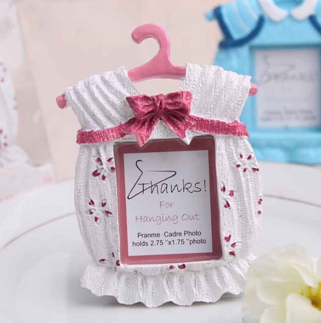 Delightful Free Shipping 12pcs Pink/Blue Cute Clothes Baby Birthday Photo Frame  Souvenir Home Decoration Baby