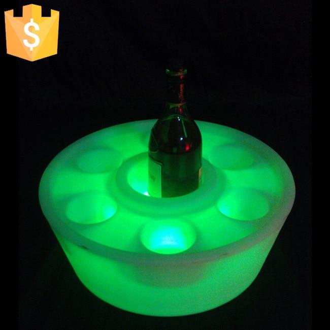 2016 nový přílet Bar víno držák 16 barevný LED stolní lampy dekorace světle vodotěsný doprava zdarma Factory Direct