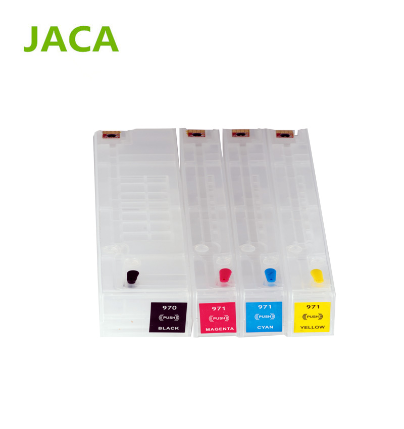 for HP 970 971 Refillable Ink Cartridge for HP officejet pro X451dn X551dw X476dn X576dw with 4colors with permanent chip for hp970 hp 970 971 auto reset chips refillable ink cartridges empty for hp x451dn x551dw x476dn x576dw with arc chips