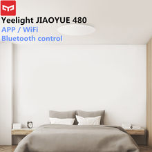 Yeelight Jiaoyue 480 Lampu Langit-langit Smart APP/WIFI/Bluetooth LED Ceiling Light 200-240V Remote Controller untuk Kamar Mandi(China)