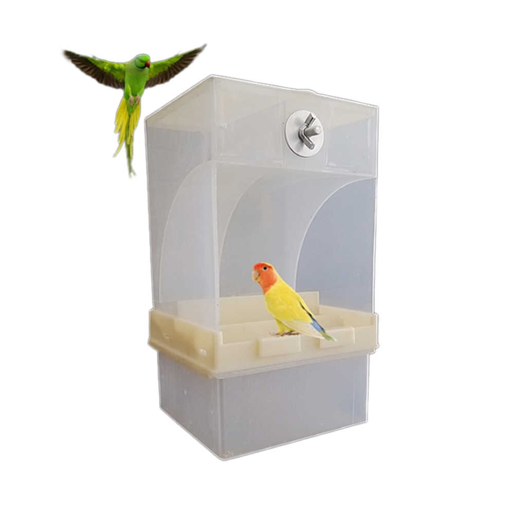 Acrylic  Parrot Integrated Automatic Bird Feeder pet feeder Birds Feeding Box Birds Cage Accessories 440ml/850ml Capacity