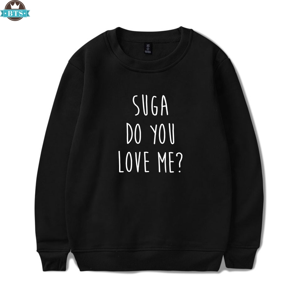 Women's Clothing Capable 2018 Spring Autumn Women Bangtan Boys Album Fans Clothing Gray White Black Color Casual Chinese Letters Printed Tops