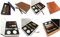 E New Stamp With Gift Box Retro Sealing Wax Stamp With Handel Spoon Wax Stick White
