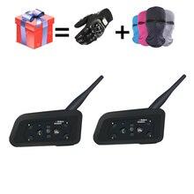 2018 NEW V6 Bluetooth intercom for motorcycle Helmet Headsets headset intercomunicador moto