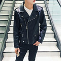 High-grade Fashion Brand Mens Leather Jackets And Coats Business Casual PU Leather Motorcycle Jacket Black Leather Jacket Men 3X