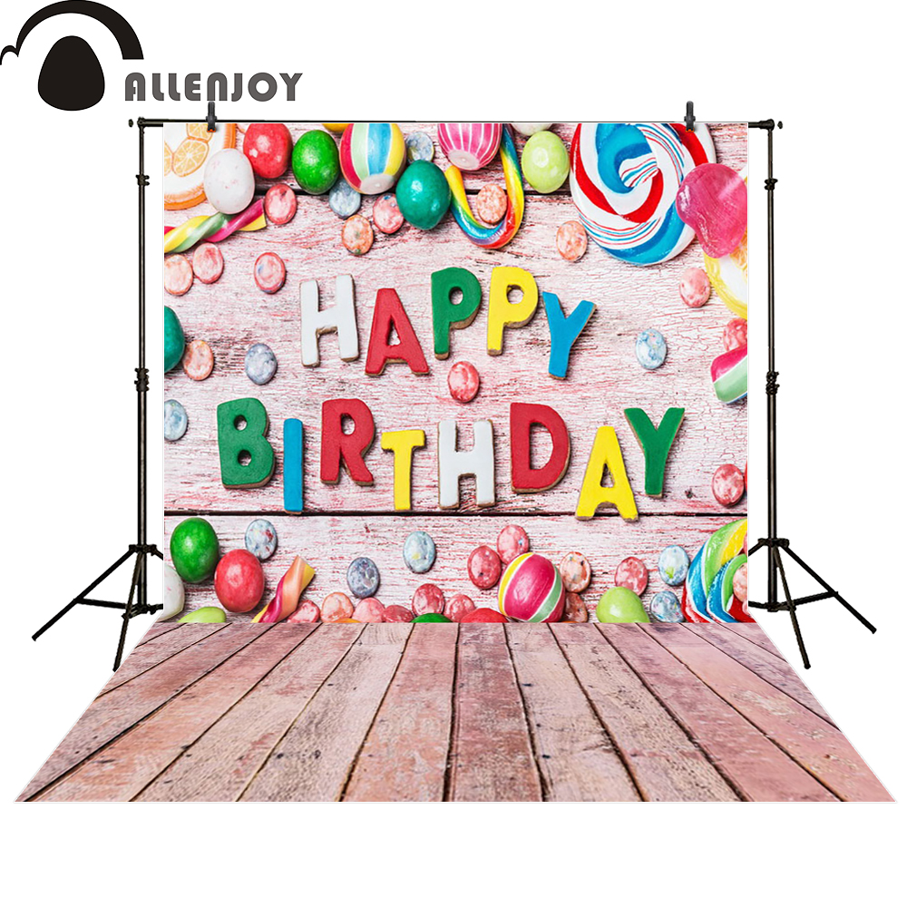 Allenjoy Backgrounds For Photo Studio Pink Candy Birthday
