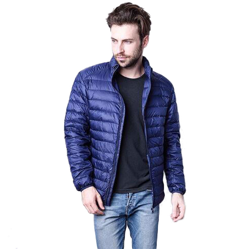 Brand Mens Clothing 2018 Winter Duck Down Jacket Coat Winter Ultralight Men 90% White Duck Down Jacket Waterproof Down Parkas