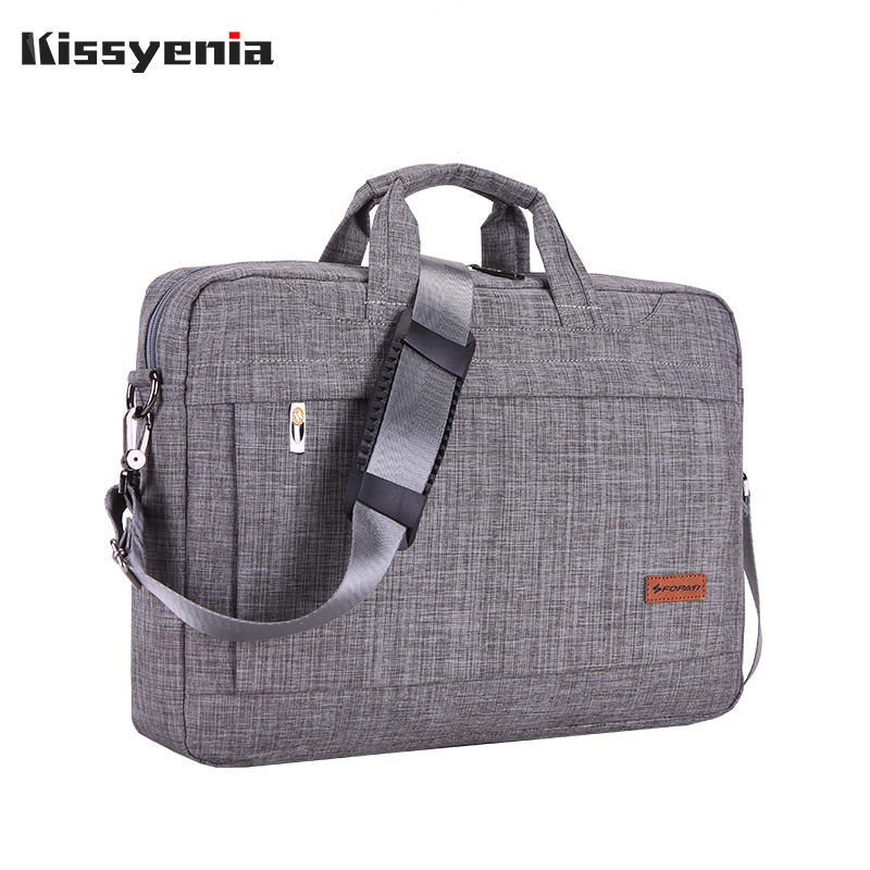 Kissyenia 14 15 Inch Laptop Briefcase Men Waterproof Formal Business Handbag For Computer Travel Portable Shoulder Bags KS1198