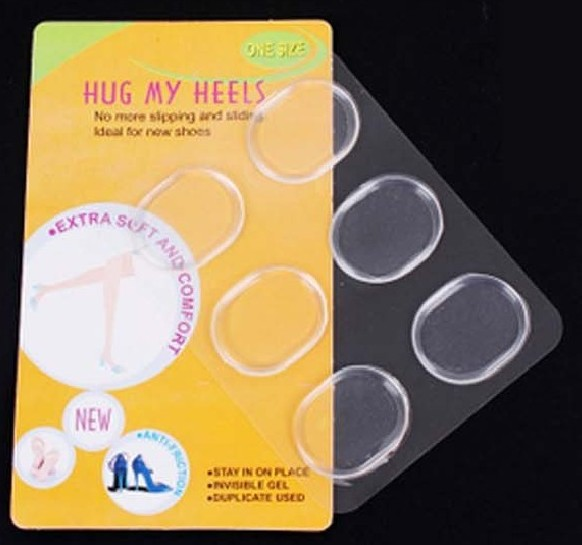 Wholesale Foot care antifatigue free paste transparent heel paste anti slip silicone heel sticky pad as high heel shoes accessor