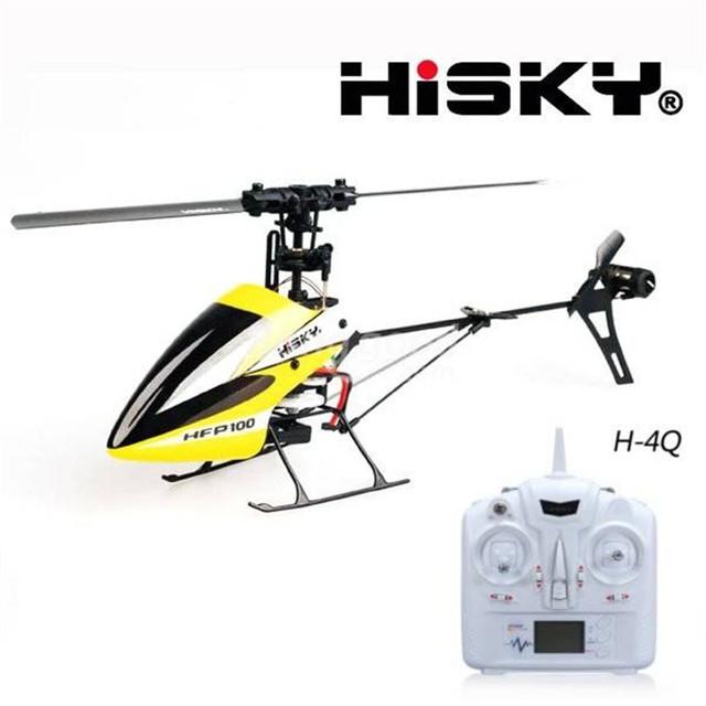 Hisky HFP100 V2 RTF 4CH 6 Axis Gyro Flybarless RC Helicóptero Con H-4Q
