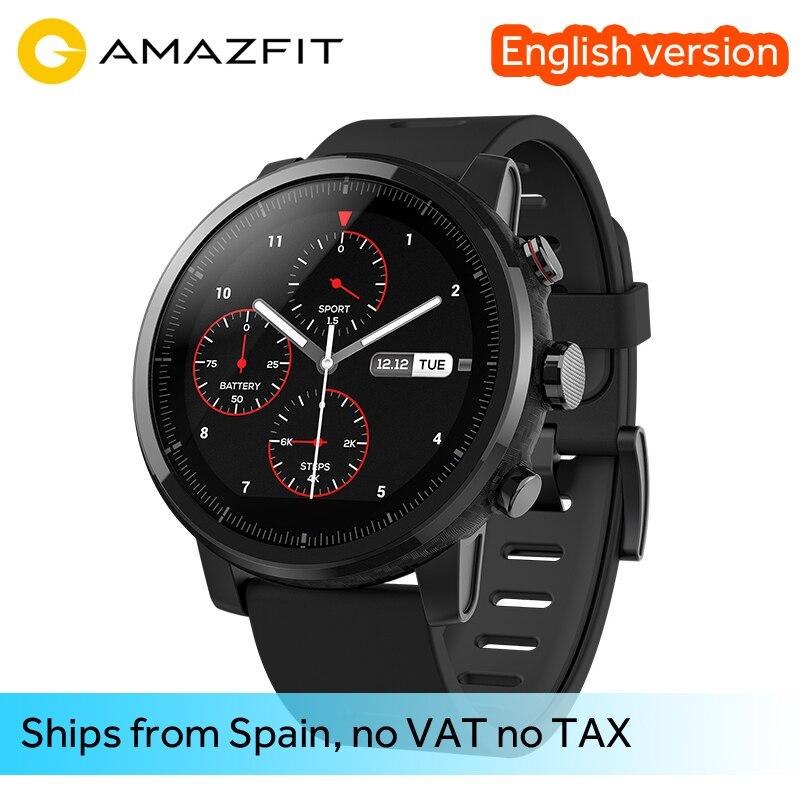 Original Xiaomi Amazfit Stratos 2 Amazfit Huami Relógio Inteligente 2 Bluetooth GPS PPG Coração Monior 11 Tipos de Modo de Esporte à prova d' água