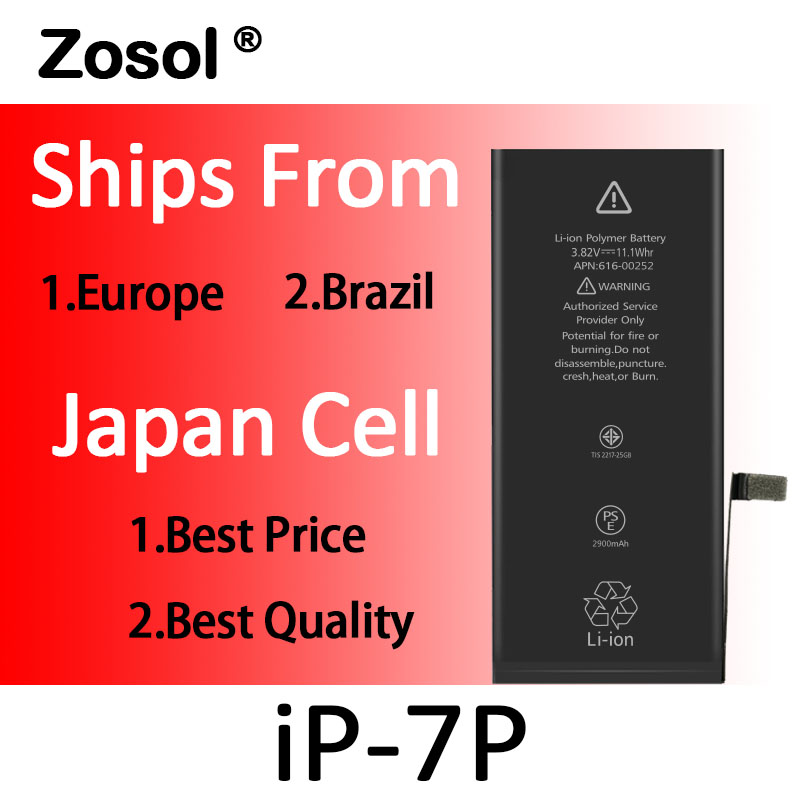 10pcs lot Origin Japan Cell Battery For iPhone 7 Plus iPhone7P Replacement Batterie Internal Bateria For