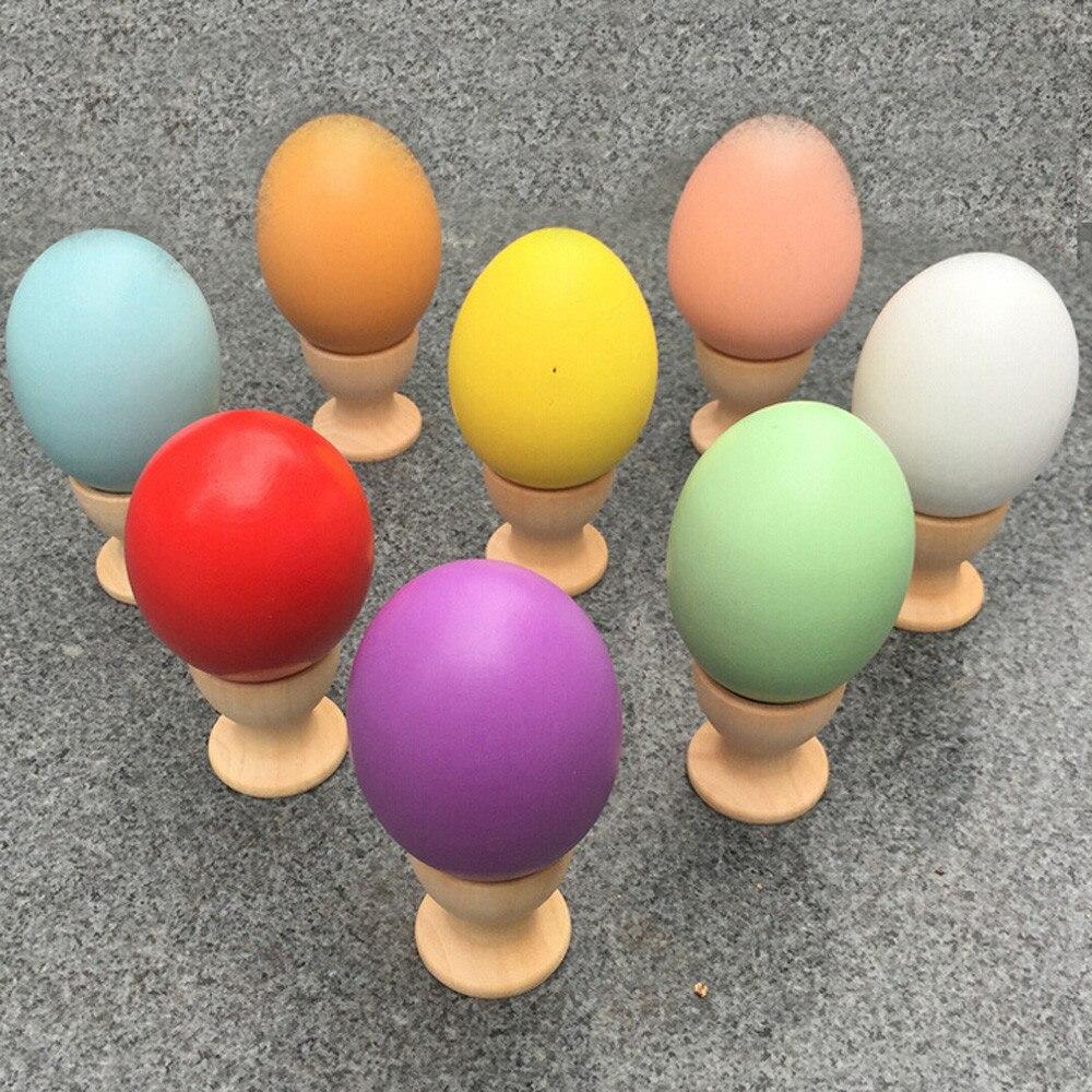 Hiinst kids kitchen toys 2017 Kids DIY Painting Wooden Color Egg Toy Easter Egg Education Toys Gift *R