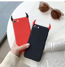 Soft Silicone Case Devil Horns Demon Angle Cover for Xiaomi Redmi Note 4 4A 4X 5 Plus 5A 6 6A 7A S2 Y2 Prime A2 Lite K20 9T Pro(China)