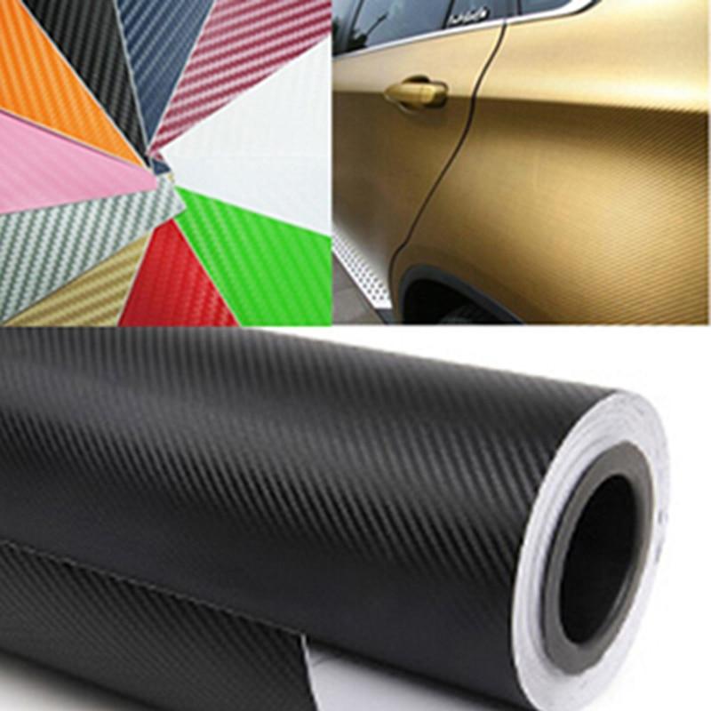 200X50CM 3D MATT BLACK CARBON FIBER CAR VINYL FOIL FILM WRAP STICKER DECAL POUR