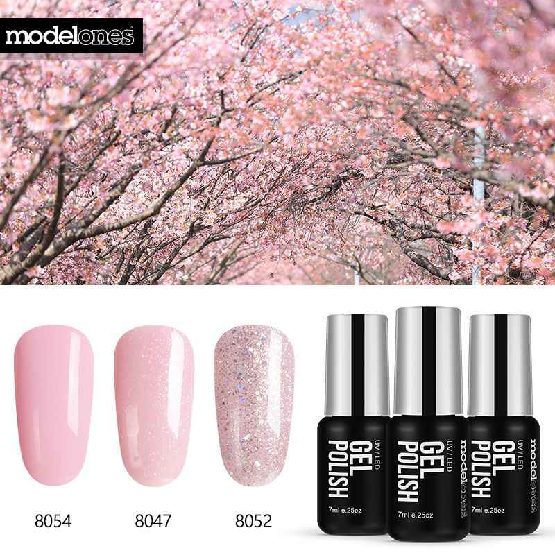 Modelones 3 pz/lotto Del Gel Del Chiodo Set Kit di Semi Permanente di UV Viola Nail Polish Unghie artistiche Soak Off Led UV Del Chiodo salon Set