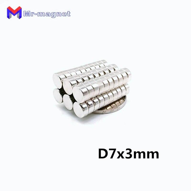 1000pcs 7 x 3 mm magnet super powerful rare earth neodymium magnets D7 3mm 7x3 disc