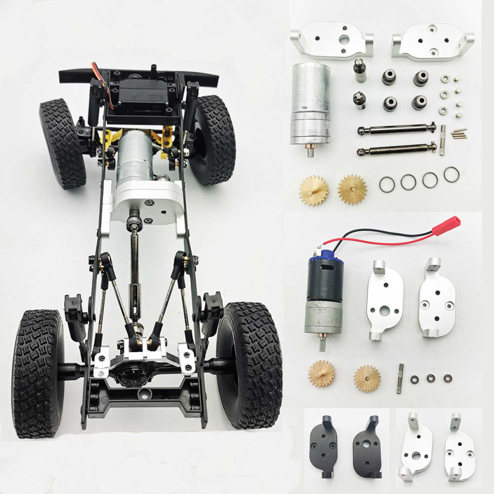 WPL B14 B36 C14 4WD drive 6 WD Leger GASS66 Metalen Transfer Case Accessoires DIY Upgrade Gemodificeerde Model Speelgoed RC auto KIT Onderdelen