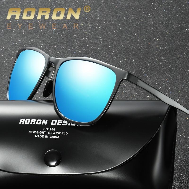 AORON Retro Aluminum Magnesium Brand Men's Sunglasses Polarized Lens Vintage Eyewear Accessories Sun Glasses For Men 6625