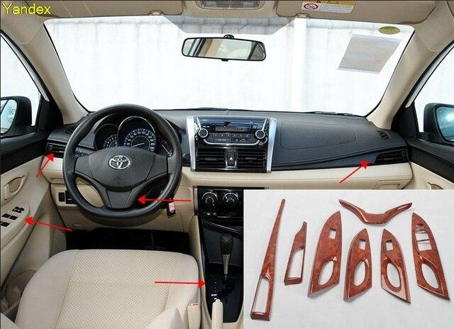 Yandex Carbon Fiber Style Peach Wood Interior Car Modified Carbon