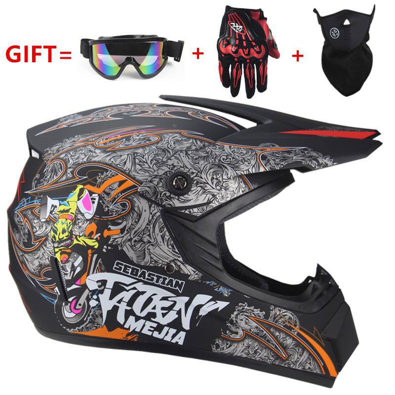 Casque de vélo à moteur casques de Motocross cyclisme pour vtt DH casque de course montagne visage complet vélo de route protecteur de vélo de descente