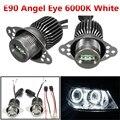 Горячие Продажа 1 Пара 12 В Белый 6000 К 80 Вт LED Angel Eye Halo Кольцо Света Лампы Маркер Фара Для BMW E90 E91