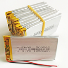 10 pcs 3.7V 1250mAh 503562 Lithium Polymer LiPo Rechargeable Battery For Mp3 GPS PSP DVD mobile phone video game PAD Tablet PC