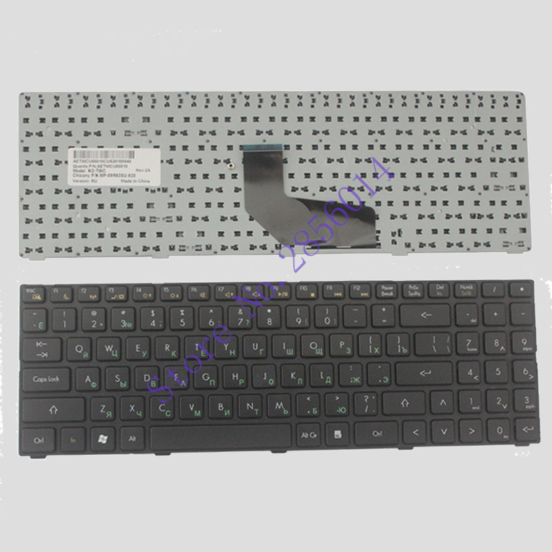 NEW Russian Laptop Keyboard For DNS Twc-n13p-gs 0165295 0155959 0158645 MP-09R63RU-920 AETWCU0010 RU Black Keyboard