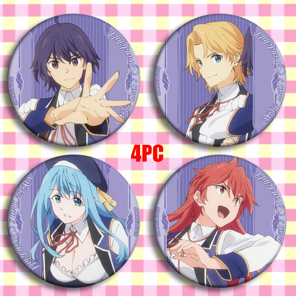 Japan Anime Kenja No Mago Shin Wolford Cosplay Party Bedge Cartoon Collect Bags Badges For Backpack Button Brooch Pin Xmas Gifts