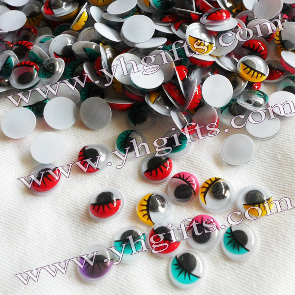 1000PCS/LOT.1CM 5 color Colorful eyeball,Pastic eyelash wiggle eye,Doll eyes, Craft work, DIY crafts Kids diy Freeshipping OEM